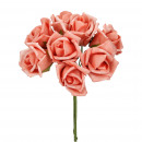 wholesale Artificial Flowers: Rose Viva Foam, 8 pieces in a bunch, D4,5cm, total
